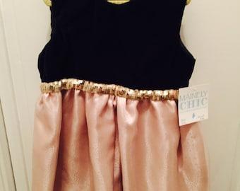 Beautiful Handmade  Velvet Party Dress