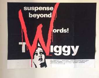 "Vintage Super Model Twiggy ""W"" Movie Poster 60's 70's Suspense Thriller Horror Film So Cool!"