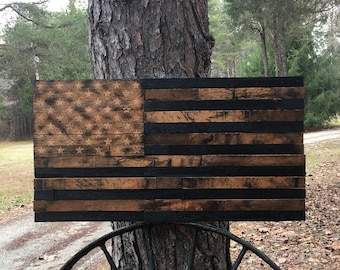 KY Bourbon Barrel Lid American Flag