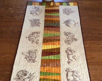 Autumn-Themed Quilted Table Runner