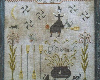 Cross Stitch - Fancey Blackett's Brooms - Choose Pattern Only or Pattern with Floss Kit