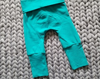 Miniloones, Grow With Me Pants, Maxaloons, Baby Leggings, Baby Maxaloones, Fall Baby Leggings, Baby Pants, Unisex Maxaloones, Jade Baby Pant