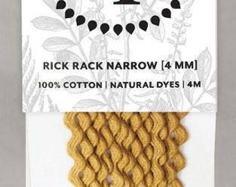 Naturally Dyed 4mm Rick Rack-Ochre
