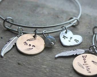 mother daughter bracelet set, mother daughter jewelry, mother daughter bangles, mother daughter jewelery set, mother daughter name bracelets