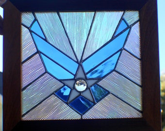 Air Force Stained Glass (Silver Solder)