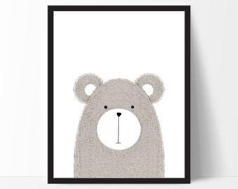 Nursery Art, Nursery Print, Childrens Art, Nursery Printable, Animal Art, Kids Art, Scandinavain Art, Kids Animal Print, Animal Printable