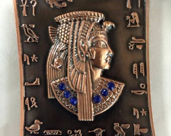Unique Egyptian Queen Cleopatra  Pewter Magnet Made In Egypt