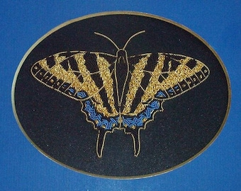 Alison Cole Tiger Swallowtail Butterfly Goldwork/Stumpwork/Embroidery Pattern