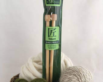 Clover Takumi Premium Bamboo Knitting Needles - Size 10.5 (6.5mm, UK 3)  - 9""