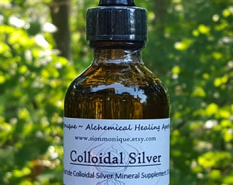 Colloidal Silver - Micro Particle Mineral Supplement, 10ppm. Natural Anti-bacterial, Immunity boost | Holistic Health & Wellness support