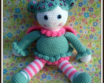 Crochet Pattern Flower Fairy Doll