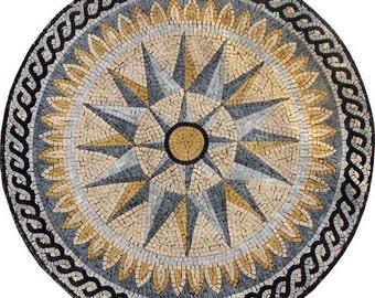 Nautical Stone Mosaic - Windrose