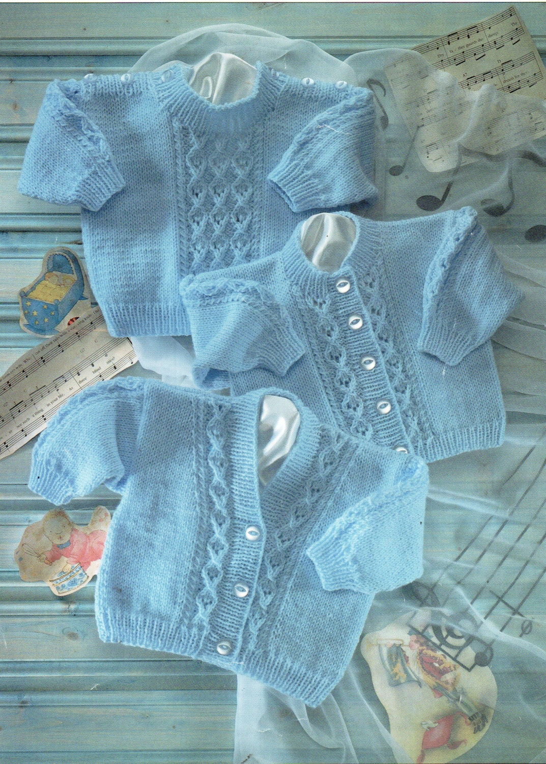 baby cable cardigans and sweater knitting pattern pattern