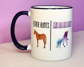 Aunt Mug | Unicorn Aunt | Funny Aunt Gift | Aunt Gift | Funny Mugs | New Aunt Gift | Unicorn Aunt Mug | Aunt Birthday Gift | Unicorn Mug