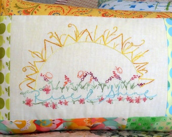 Rise and Shine Sweet Dreams Hand Embroidery PDF Pattern Set Instant Digital Download