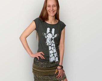 "Women Bamboo T-shirt ""Stefanie La Girafe"""