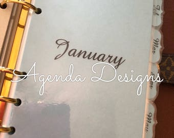 Price lowered!!! 12 Monthly Tabbed Agenda/Planner Dividers Louis Vuitton Agenda , Kate Spade, Arc and others...