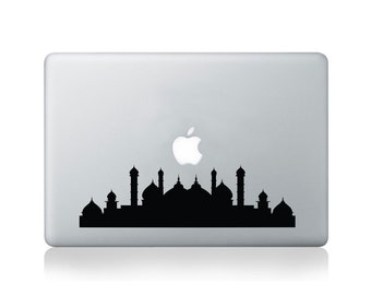 Mosque Silhouette Vinyl Decal for Macbook (13/15) or Laptop