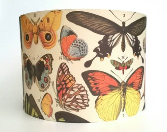 Lamp shades etsy nz vintage butterfly lampshade aloadofball Choice Image