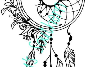 Sun & Moon Dreamcatcher - SVG