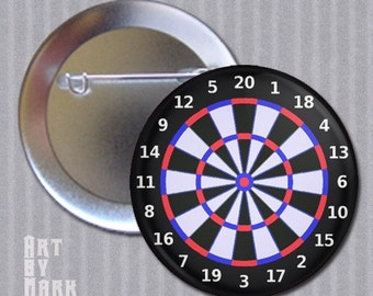 "Dartboard 1.25""  Pinback Button"