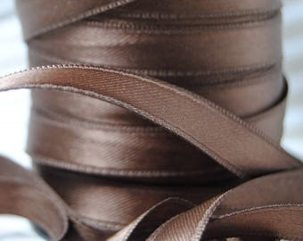 Brown 10 mm Brown satin ribbon