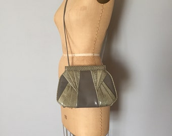 Giani Bernini cloudy grey leather purse | snake skin bag