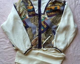 Womens East West Silks Vintage 80s Tracksuit