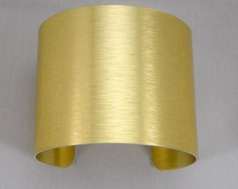 """2"""" x 6"""" (2 x 6)  Gold anodized aluminum cuff bracelet blanks, one dozen"""
