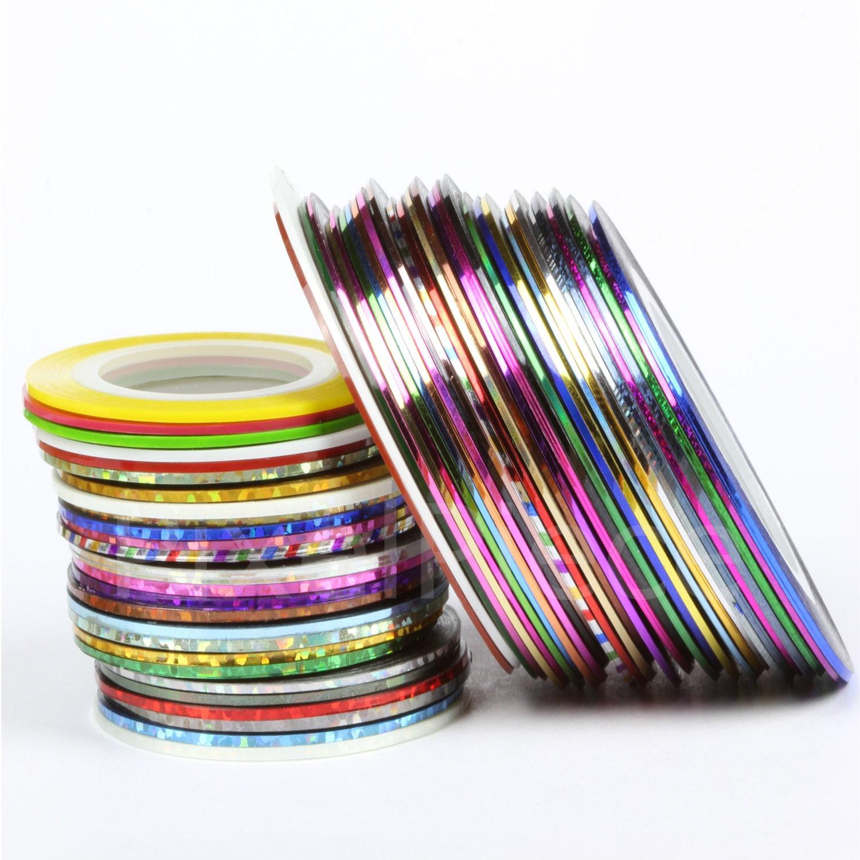 Nail Striping Tape Different Colors Adhesive Back Nail Tape