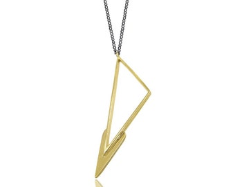 Lightning Triangle Necklace