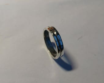 Chunky sterling silver band, UK size S