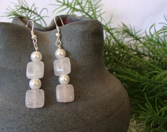 Eternal Love Earrings Pearl & Quartz Elegance