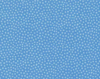 Under the Sea Spots on Blue Fabric Sold Per 1/2 Metre 100% Cotton