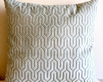 Mint Green Velvet Pillow Covers 18x18 Pillow Velvet Mint Green Pillow Designer Pillow Velvet Pillow Velvet Cushion Mint Green Sofa Pillow