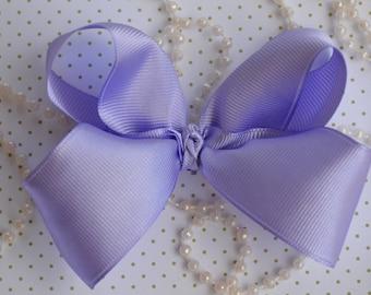 """Lavender 4"""" Hair Bow, Boutique Hair Bow, Hair Accessory, Bow Clips, Hair Bow Alligator Clip, Hair bows, Hair Boutique Bow, Accessories"""