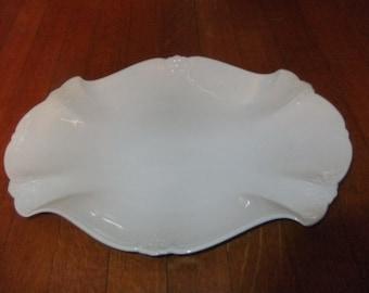 "Hutschenreuther Baronesse White Porcelain 13"" Oval Serving Platter"