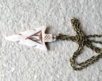 Bone Arrowhead Necklace