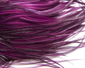 VERY  BERRY Feather Hair Extensions, Tufted Wide Long Hair Feather Extensions