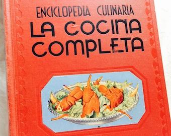 Vintage Español Libro de cocina, La Cocina Completa, Enciclopedia Completa, cocina española, recetario español, recetas de Vintage Español
