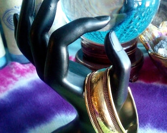 OHM Copper Cuff Bracelet Metaphysical jewelry