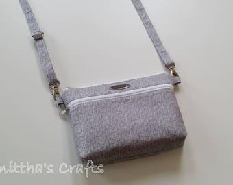 Crossbody bag 2 zippered for iPhone 6-Galaxy note,Double zipper wallet,Medium crossbody bag,Crossbody phone case,Crossbody bags vegan