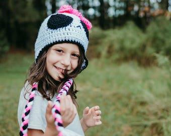 Monster High Inspired Crochet Skull Hat