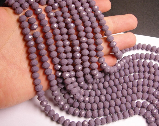 Crystal faceted rondelle - 68 pcs - 8 mm - A quality - full strand - mauve purple  - GSH42