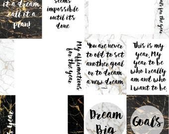 Marble Inspirational 12×12 Journal Card Cut-a-part