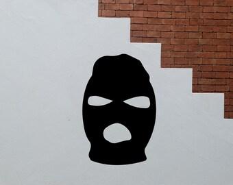 2x Ski Mask Vinyl Decal Sticker For Decoration Art Small