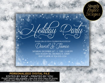 Snowflake Holiday Party Invitation