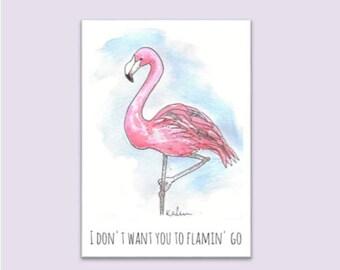 Flamingo Farewell Card