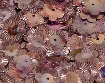 100 sequins METALLIC/Flowers/KBSF415