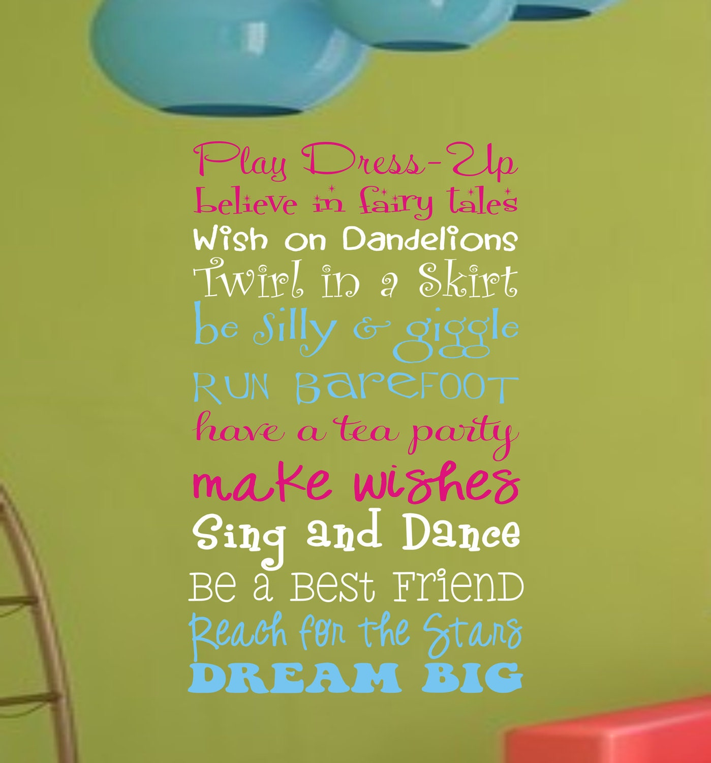 Girls Playroom Wall Decal Childrens Playroom Wall Art